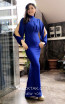TK MT3964 Blue Front Evening Dress