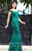 TK MT3965 Green Front Evening Dress
