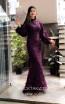 TK MT3966 Purple Front Evening Dress