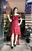 TK MT3967 Bordo Front Prom Dress