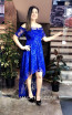 TK MT3967 Blue Front Prom Dress