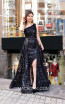 TK MT3969 Black Front Evening Dress