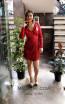 TK MT3971 Red Front Short Dress