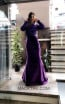 TK MT3974 Purple Front Evening Dress