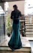 TK MT3974 Green Back Evening Dress