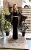 TK MT3976 Black Front Evening Dress