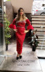 TK MT3978 Red Front Evening Dress