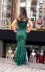 TK MT3981 Green Back Evening Dress