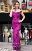 TK MT3981 Purple Front Evening Dress