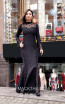 TK MT3984 Black Front Evening Dress