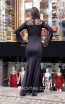 TK MT3984 Black Back Evening Dress