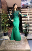 TK MT3988 Green Front Evening Dress