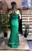 TK MT3988 Green Back Evening Dress