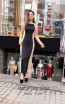 TK MT3989 Black Nude Front Evening Dress