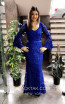 TK MT3990 Blue Front Evening Dress