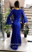 TK MT3990 Blue Back Evening Dress