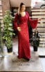 TK MT3990 Red Front Evening Dress