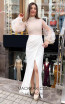 TK MT3995 White Front Dress