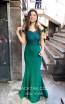 TK MT3996 Green Front Dress