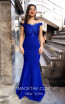 TK MT3996 Blue Front Dress