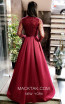 TK MT3997b Bordo Back Dress