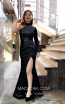TK MT3998 Black Front Dress