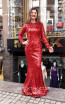 TK MT3999 Red Front Dress