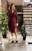 TK MT3973 Bordo Front Short Dress