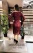 TK MT3973 Bordo Back Short Dress