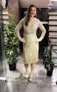 TK MT3973 Gold Front Short Dress