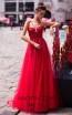 Pollardi Nikki 5077 Red Front Dress