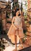 Pollardi 2042 Coffee Front Dress