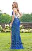 Primavera Couture 3290 Blue Back Dress