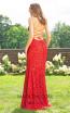 Primavera Couture 3290 Red Back Dress
