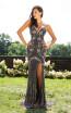 Primavera Couture 3202 Front Black Multi Dress