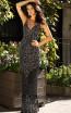 Primavera Couture 3415 Black Silver Front Dress