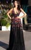 Primavera Couture 3437 Black Multi Front Dress