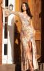 Primavera Couture 3449 Blush Multi Front Dress