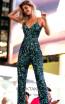 Primavera Couture 3469 Black Blue Front Dress