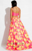 Rachel Allan 7660 Fuchsia Yellow Back Evening Dress