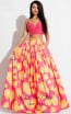 Rachel Allan 7660 Fuchsia Yellow Front Evening Dress