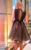 Sana Sabini 9272 Black Nude Back Evening Dress