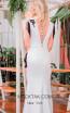 Sana Sabini 9296 Black White Back Evening Dress