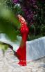 Tarik Ediz 93627 Red Back Evening Dress