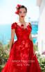 Tarik Ediz 93627 Red Front Evening Dress