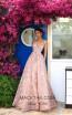 Tarik Ediz 93654 Dusty Rose Front Evening Dress