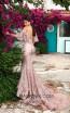 Tarik Ediz 93660 Dusty Rose Back Evening Dress