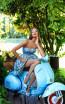 Tarik Ediz 50273 Blue Dress