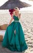 Tarik Ediz 50633 Emerald Front Dress
