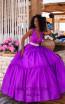 Tarik Ediz 50642 Purple Front Dress